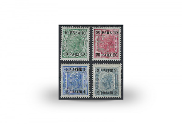 Briefmarken Österreich/Levante Franz Joseph 1905 Michel-Nr. 47/50 Falz