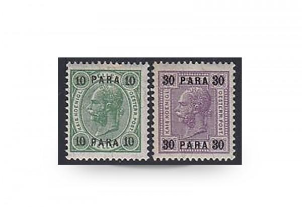 Briefmarken Österreich/Levante Franz Joseph 1906/1907 Michel-Nr. 51/52 Falz