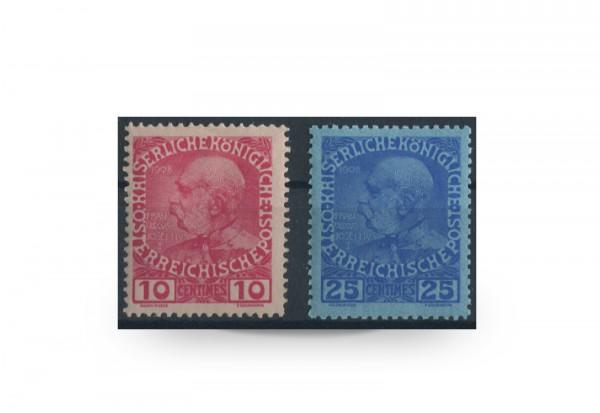 Briefmarken Österreich/Levante Franz Joseph 1914 Michel-Nr. 62/63 Falz
