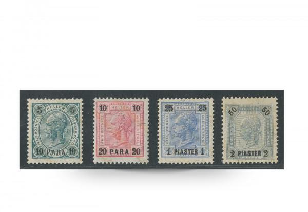 Briefmarken Österreich/Levante Franz Joseph 1901 Michel-Nr. 39/42 Falz