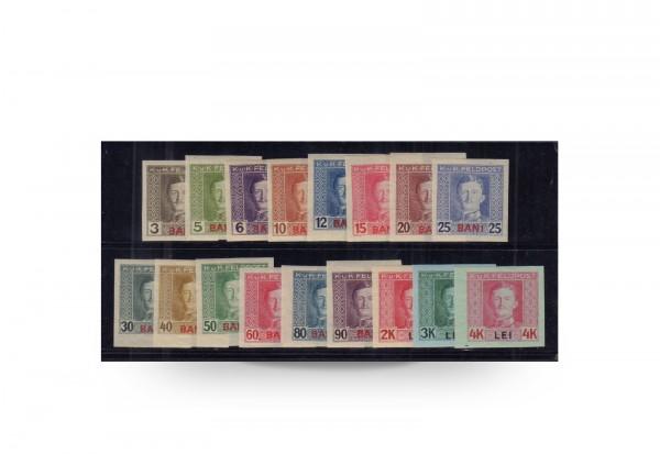 Briefmarken Kaiser Karl I. Österreich Rumänien 1917 Michel-Nr. 1/17 ungezähnt