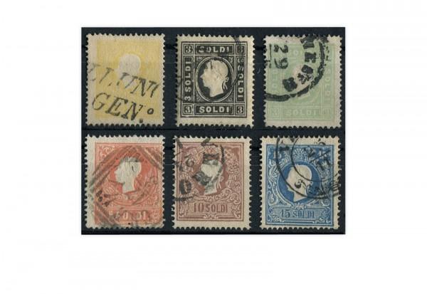 Lombardei und Venetien Freimarken Mi.Nr. 6-11 II (*)