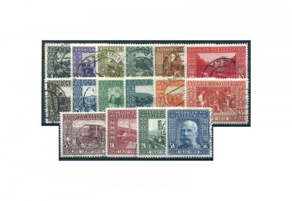 Briefmarken Bosnien/Herzegowina Jahrgang 1910 Michel-Nr. 45/60 gestempelt