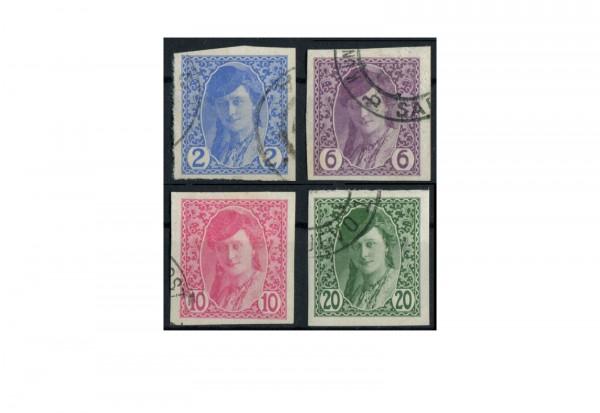 Bosnien und Herzegowina Zeitungsmarken 1913 Michel Nr. 85/88 gestempelt