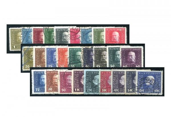 Österreich Feldpost Mi.Nr. 22-48 gest.