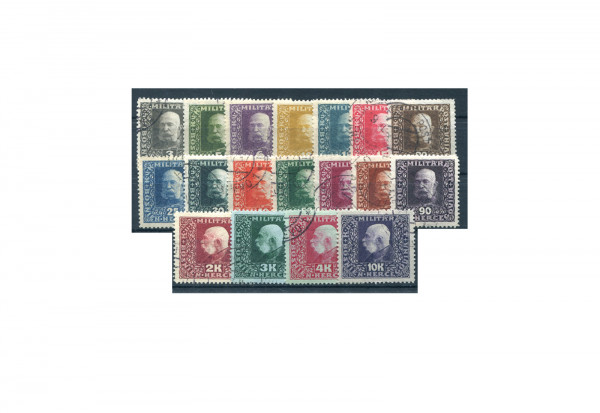 Bosnien/Herzegowina Franz Joseph I. 1916 Mi.Nr. 99-116 gest.