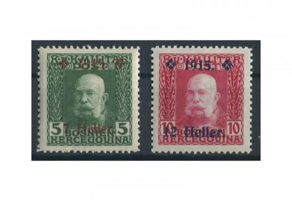 Bosnien-Herzegowina Freimarken 1915 Mi.Nr. 93-94 gest.