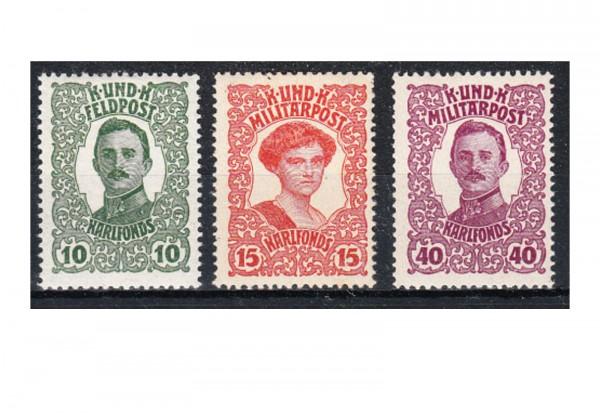 Bosnien-Herzegowina Kaiserfürsorge Mi.Nr. 144-146 gest.