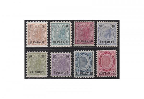 Levante Freimarken: Franz Joseph 1890 Michel Nr. 20/27 gestempelt