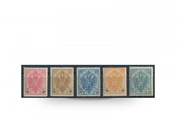 Briefmarke Doppeladler Österreich/Bosnien Herzegowina 1901-1905 Michel-Nr. 24/28 gestempelt