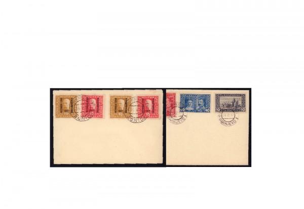 Blankobriefe Österreich/Bosnien Herzegowina 1917 Michel-Nr. 119-123 gestempelt