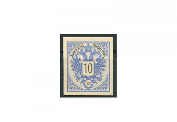Briefmarke Österreich 10 Kreuzer Doppeladler 1883 Michel-Nr. 47 PU III ungezähnt Fotobefund