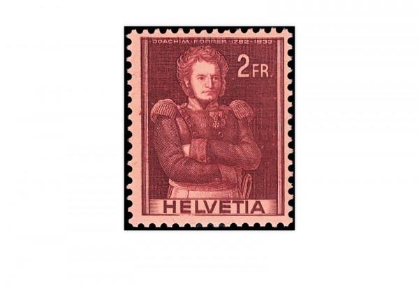 Schweiz Mi.Nr. 385 DP I ** Fehldruck Oberst Forrer 1941 Doppelprägung