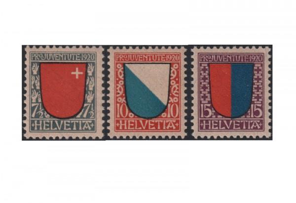 Schweiz Mi.Nr. 153/155 postfrisch Pro Juventute: Wappen