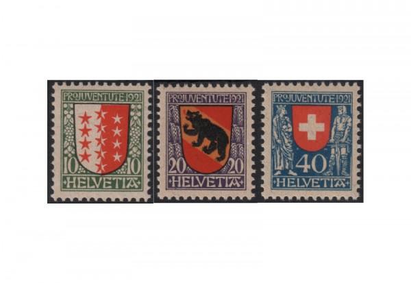 Schweiz Mi.Nr. 172/174 postfrisch Pro Juventute:Wappen