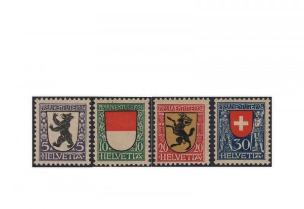 Schweiz Mi.Nr. 209/212 postfrisch Pro Juventute:Wappen