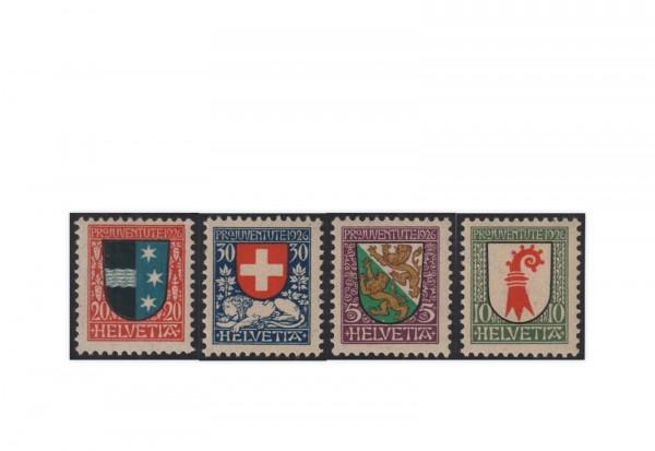 Schweiz Mi.Nr. 218/221 postfrisch Pro Juventute:Wappen