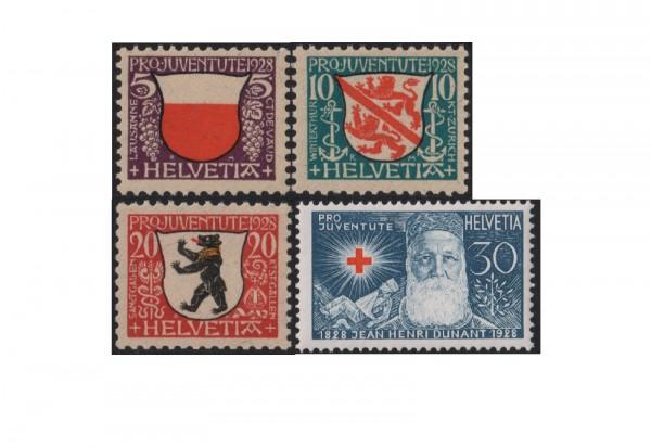 Schweiz Mi.Nr. 229/232 ** Pro Juventute:Wappen