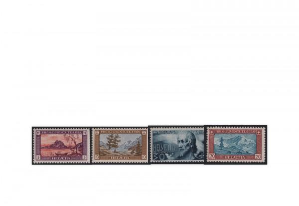 Schweiz Mi.Nr. 235/238 postfrisch Pro Juventute: Landschaften