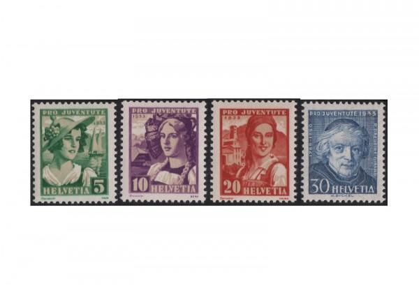 Schweiz Mi.Nr. 266/269 postfrisch Pro Juventute Trachten