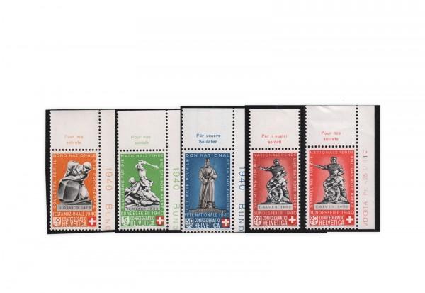 Schweiz Mi.Nr. 364/367 postfrisch Pro Patria Denkmäler