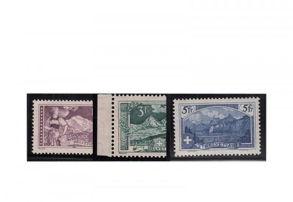 Briefmarken Schweiz Gebirgslandschaften I 1914 Mi.Nr. 121-123 postfrisch