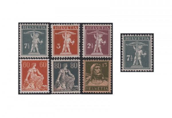 Schweiz Mi.Nr. 136/141 postfrisch inkl. 138 II+III ZNR 136/141