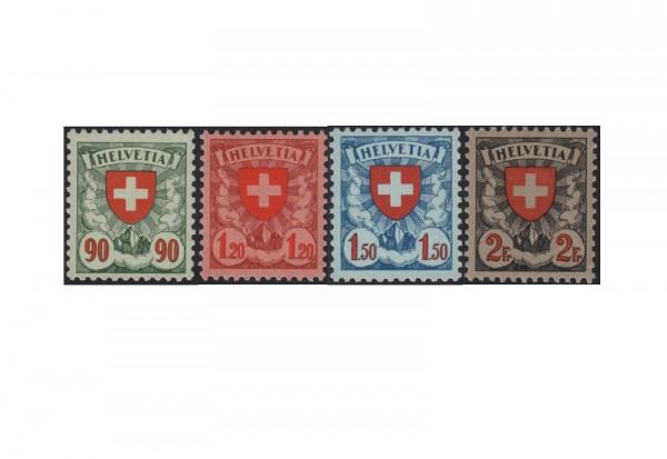 Briefmarken Schweiz Wappenschild 1924 Michel-Nr. 194-197z postfrisch