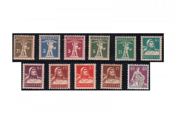 Briefmarken Schweiz Freimarken 1924-1933 Michel-Nr. 198-208 postfrisch