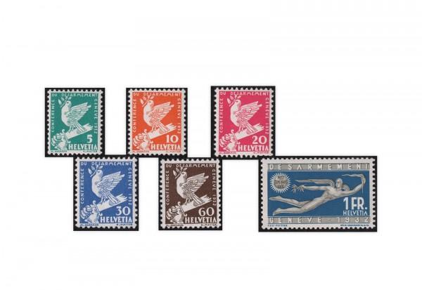 Schweiz Mi.Nr. 250/255 Abrüstungskonferenz Genf ZNR 185/190 postfrisch
