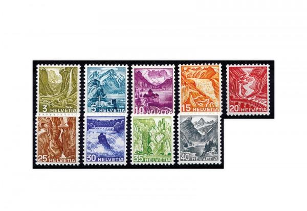 Schweiz Mi.Nr. 297/305 y Landschaftsbilder ZNR 201/209 **
