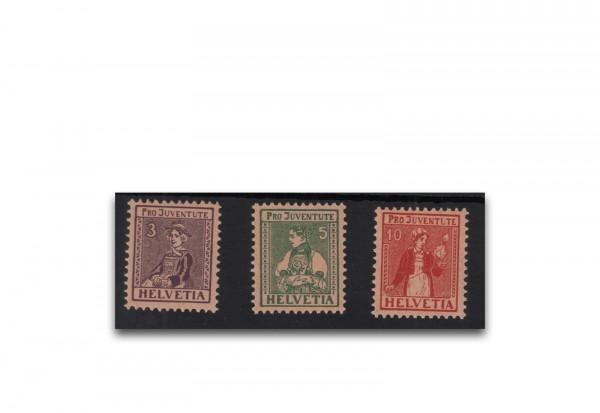 Schweiz Mi.Nr. 133/135 postfrisch Pro Juventute Trachten ZNR 7/9 postfrisch