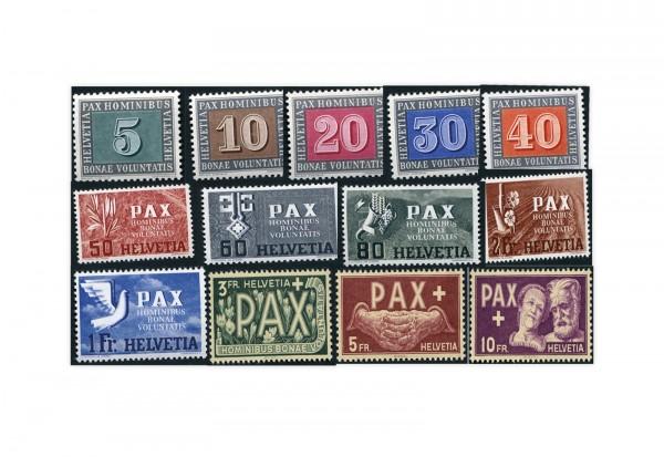 Schweiz PAX Serie Michel-Nr. 447/459 postfrisch