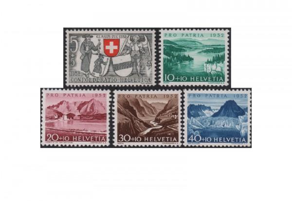 Schweiz Mi.Nr. 570/574 postfrisch Pro Patria 1952