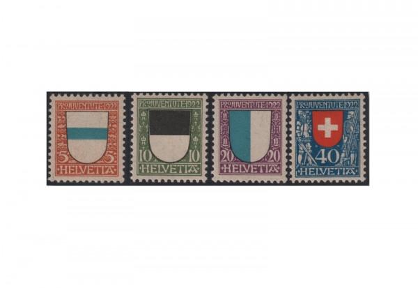 Schweiz Mi.Nr. 175/178 gestempelt Pro Juventute Wappen