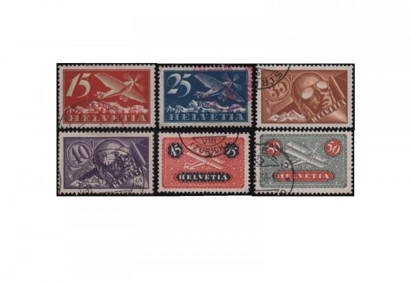 Schweiz Mi.Nr. 179/184 Flugpost gestempelt