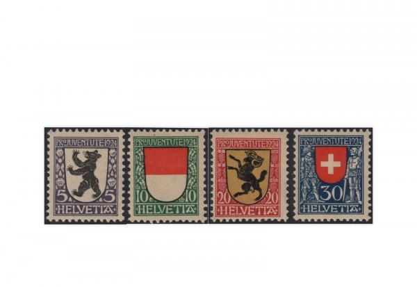 Schweiz Mi.Nr. 209/212 gest. Pro Juventute: Wappen