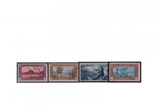 Schweiz Mi.Nr. 235/238 gestempelt Pro Juventute Landschaften