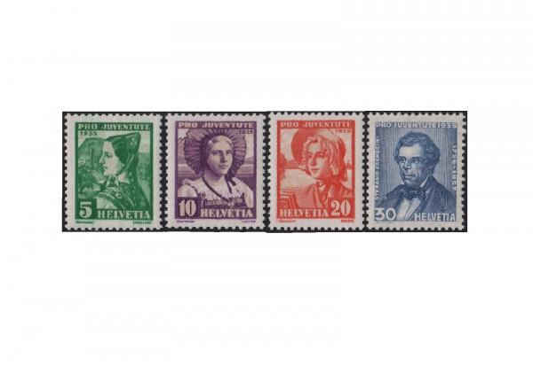 Schweiz Mi.Nr. 287/290 gestempelt Pro Juventute Trachten