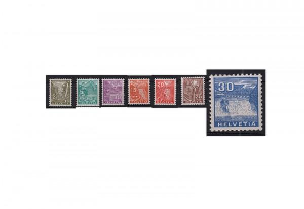 Schweiz Mi.Nr. 270/276 gestempelt Freimarken Landschaftsbilder ZNR 194/200