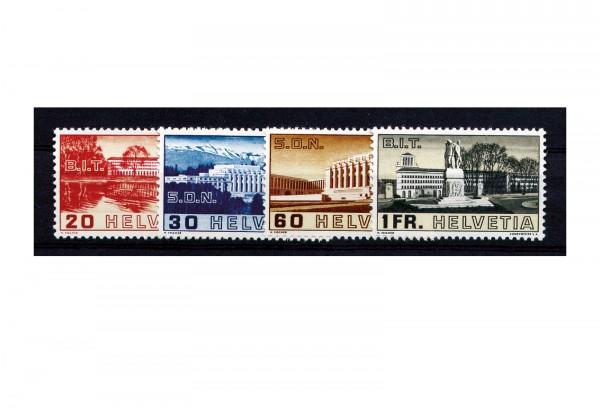 Schweiz ILO und SDN 1938 Michel Nr. 321-24/ZNR 211-214 gestempelt