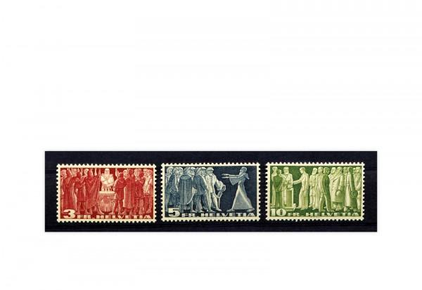 Schweiz Mi.Nr. 328/330 x gestempelt Demokratiesymbole ZNR 216/218