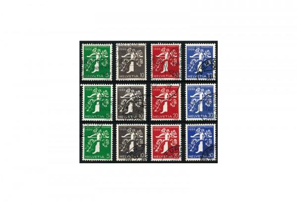 Frei- und Gedenkmarken Schweiz 1939 Schweizerische Landesazsstellung , Zürich (II) Mchel Nr. 344-35