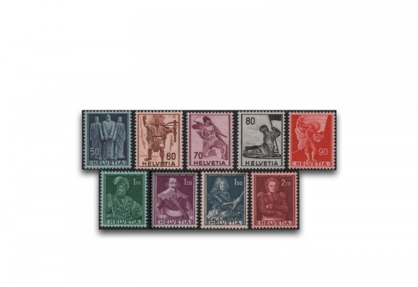 Schweiz Mi.Nr. 377/385 gest. Hist. Darstellungen ZNR 243/251