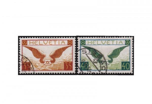 Briefmarken Schweiz Flugpost ZNR 14/15 Michel-Nr. 233/234 x gestempelt