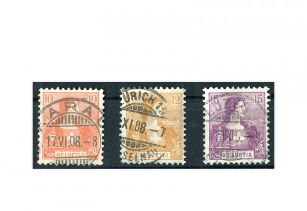 Schweiz Michel Nr. 98-100 gestempelt 1907