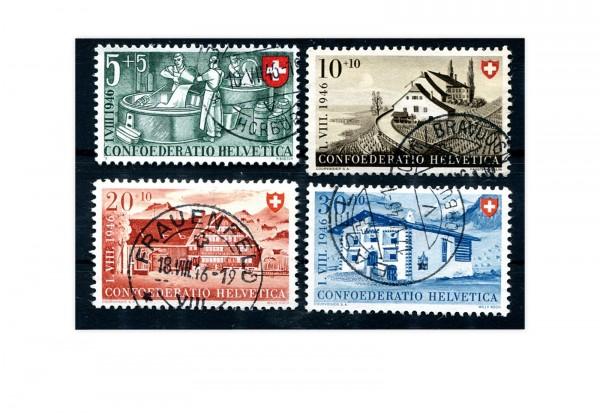 Schweiz Mi.Nr. 471/474 gestempelt