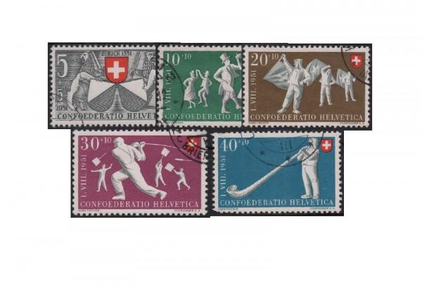 Schweiz Mi.Nr. 555/559 gestempelt 600 Jahre Zürich in der Eid- genossenschaft