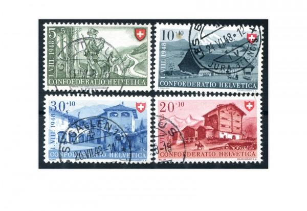 Schweiz Michel Nr. 508-511 gestempelt
