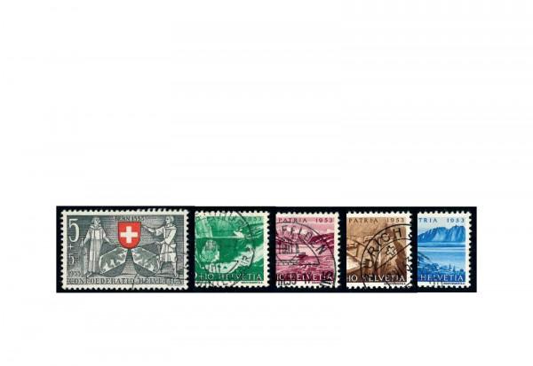 Briefmarken Schweiz Pro Patria Michel-Nr. 580/584 gestempelt